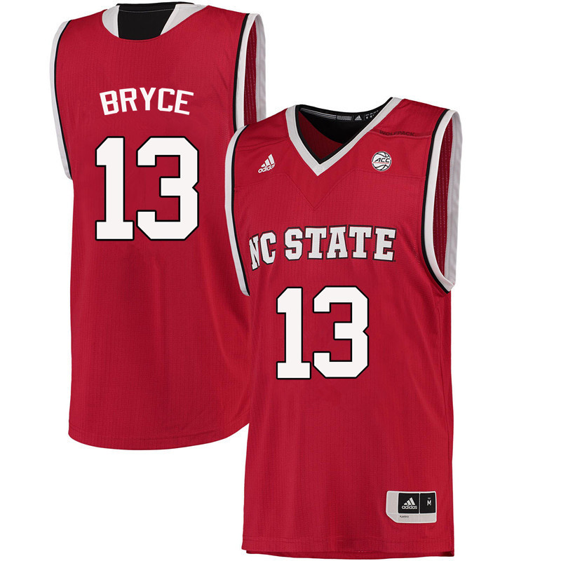 Men NC State Wolfpack #13 C.J. Bryce College Basketball Jerseys-Red