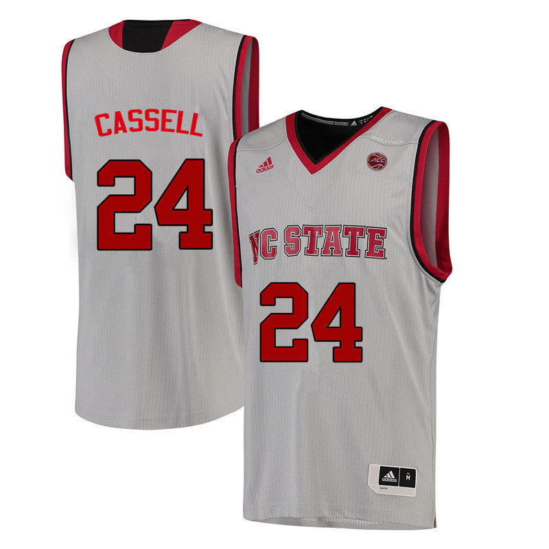 Men NC State Wolfpack #24 Erika Cassell College Basketball Jerseys-White