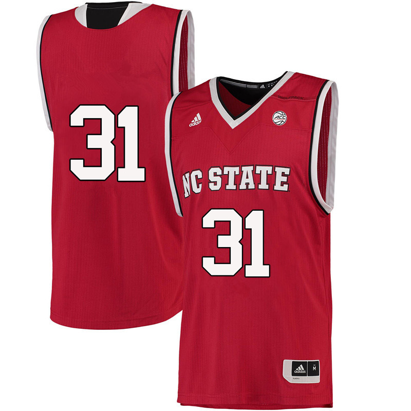 Men #31 Spencer Newman NC State Wolfpack College Basketball Jerseys-Red